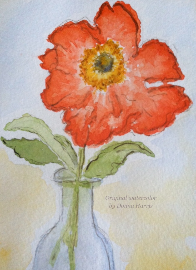 Original Watercolor by Donna Harris