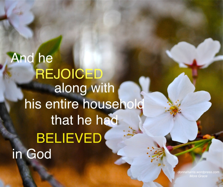 Rejoiced with his household 2
